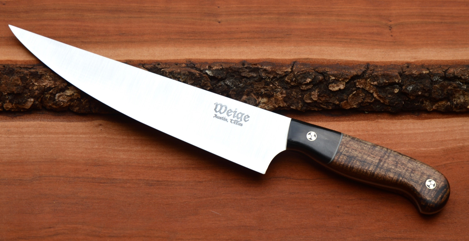 engraved kitchen knives custom chef knife with hawaiian mango handle weige knives custom chef knives 2884
